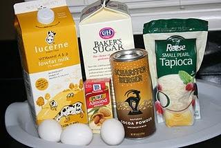 slow cooker recipe - chocolate almond tapioca pudding