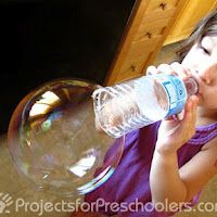 Reuse waterbottles for giant bubbles!