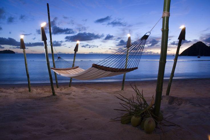 Hammocks on the beach | Sandals Grande St. Lucian Resort | Pinterest