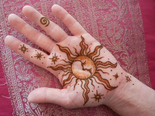 Sun and moon henna Sun And Moon Henna Designs