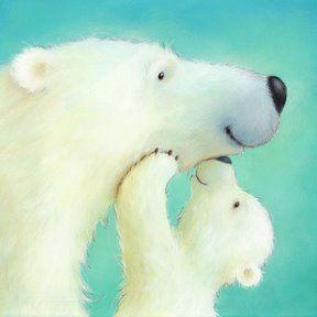 Cute Polar Bear Illustration by Alison Edgson