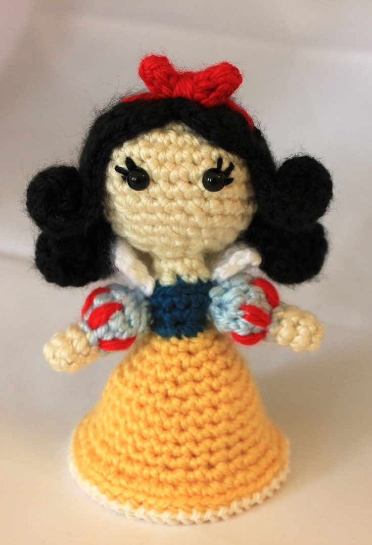 Amigurumi Disney Princess : PATTERN Instant Download Snow White Princess Amigurumi ...