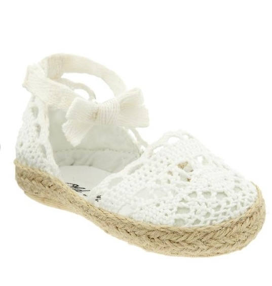 Old navy baby bow espadrilles Baby girl shoes