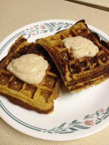 Pumpkin Banana Waffles (single serving) | Colazione | Pinterest
