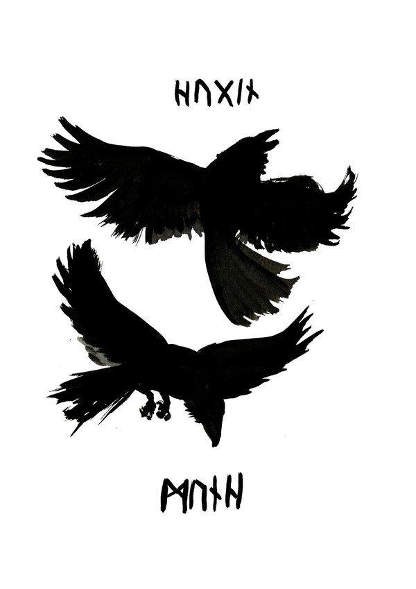 Odin s Ravens  2  by JaudaOdins Ravens Tattoo