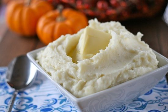 Perfect Mashed Potatoes. Mine turned out a little thin. I would start ...