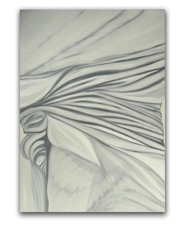 "Tess Pilipiszyn; Oil, 2005, Painting ""Untitled Grey"""