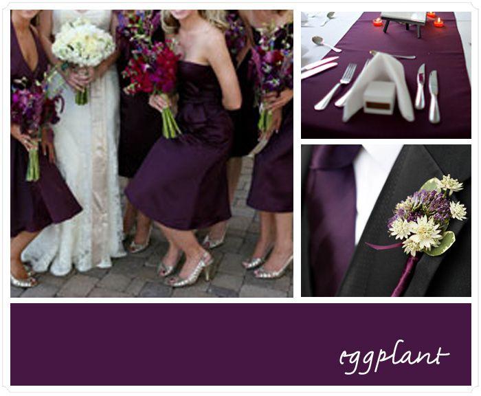 eggplant wedding color schemes pinterest. Black Bedroom Furniture Sets. Home Design Ideas