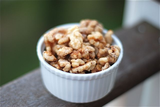 Maple Syrup Candied Walnuts