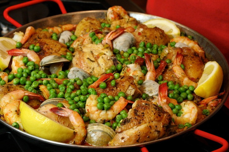 Chicken, Shrimp, and Chorizo Paella. A perfect family dish full of ...