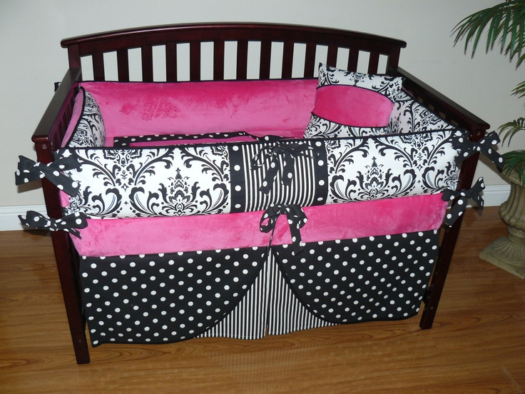 Image gallery of hot pink and white damask bedding