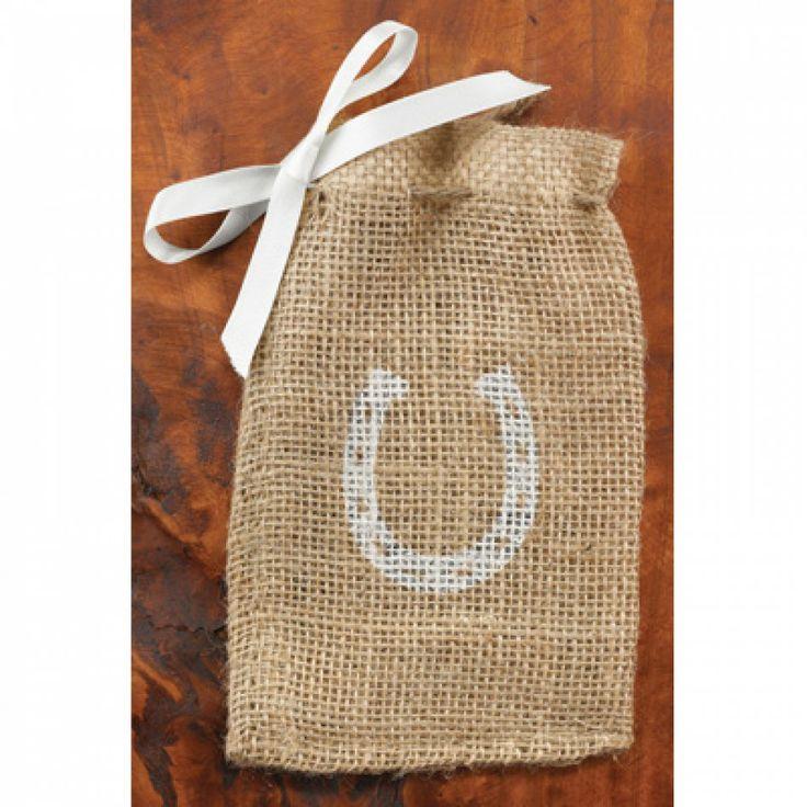 Burlap Favor Bags - Horseshoe Favor Bags (25 Bags) [424-20818 Burlap ...