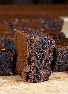 Deep, Dark Brownies. Heaven!. | MY KIND OF TASTE | Pinterest