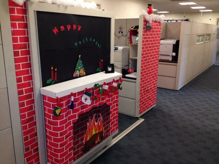 Christmas Decorating Ideas For Cubicle : Christmas cubicle