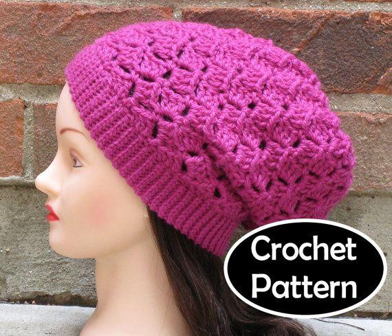 Crochet Hat Pattern Teenager : CROCHET HAT PATTERN Instant Download - Elizabeth Slouchy ...