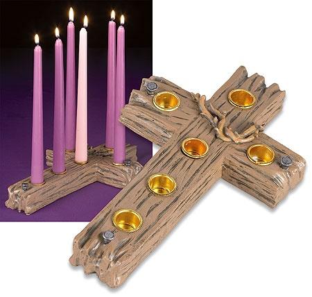 new lenten cross candleholder churchy pinterest