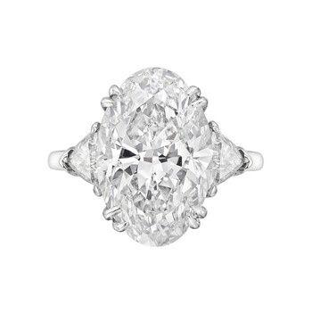 Harry Winston 6.45 Carat Oval-Cut Diamond Engagement Ring