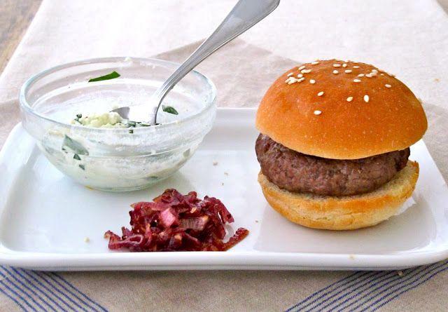 ... Hobick: Blue Cheese & Caramelized Onion Burger | Sliders & Burger