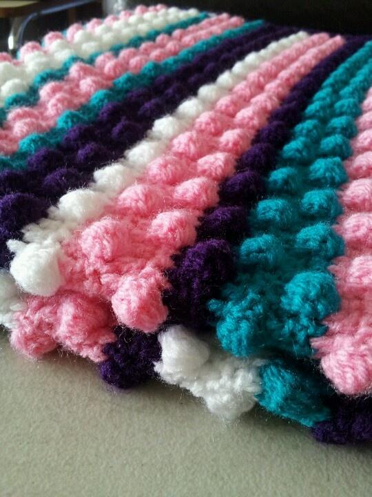 Crochet Bobble Stitch : Bobble stitch blanket.
