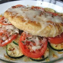 Baked Chicken and Zucchini - family fave. I used Panko bread crumbs ...