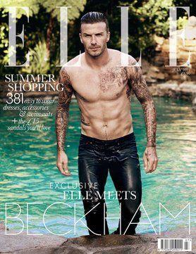 David Beckham on the July 2012 Elle UK cover