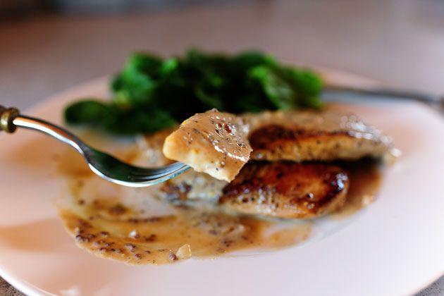 Chicken with Mustard Cream Sauce | Recipe