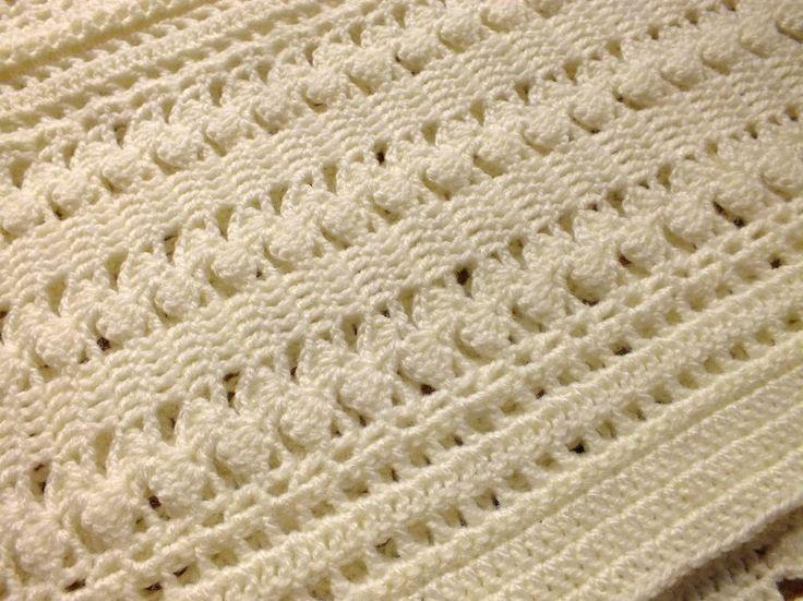 Soft Cream ZigZag Crochet Baby Blanket Crochet blankets ...
