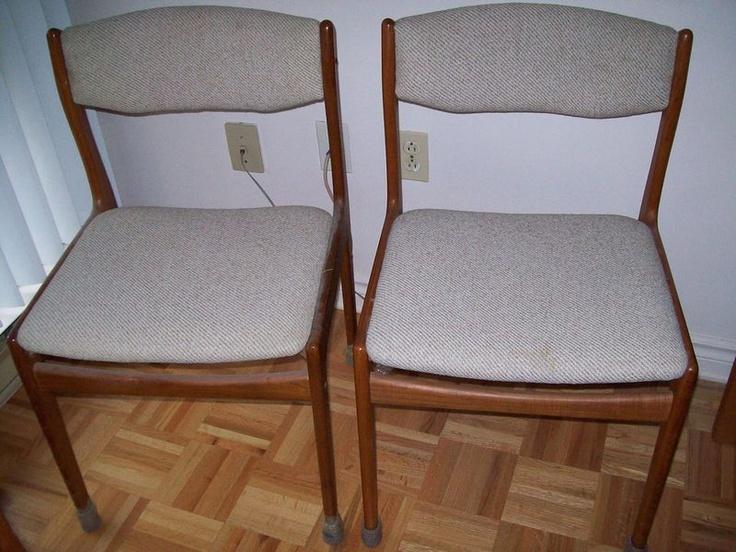 Kijiji chaises en teck 15 chacune for Chaise bercante kijiji