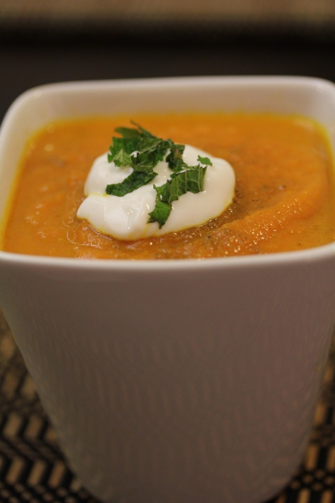 Carrot Ginger Soup w. Mint Yogurt | Salads, Soups, and Sandwiches (an ...