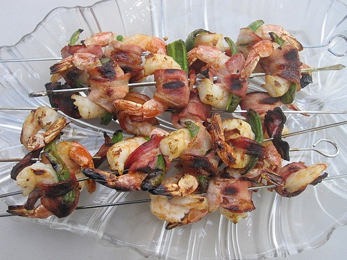 Also called rat toes: bacon wrapped, shrimp stuffed Jalapenos. mmmmmmm