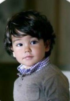 Dark boys hair | Baby Boy Style | Pinterest