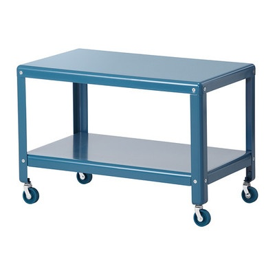 new ikea ps 2012 rolling steel turquoise coffee table cart garden tea bedroom. Black Bedroom Furniture Sets. Home Design Ideas