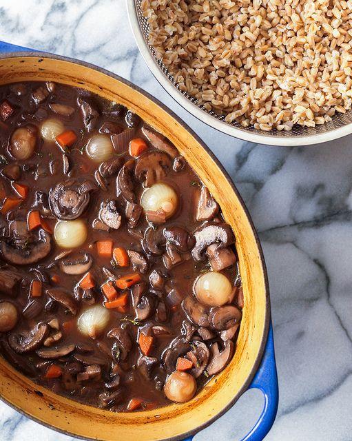 Mushroom Bourguignon | eat+drink | Pinterest