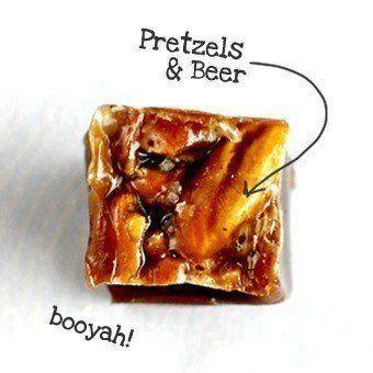 Beer & Pretzel Caramels