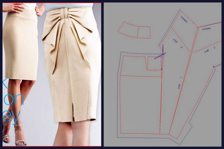 Выкройка оригинальной юбки своими руками 50