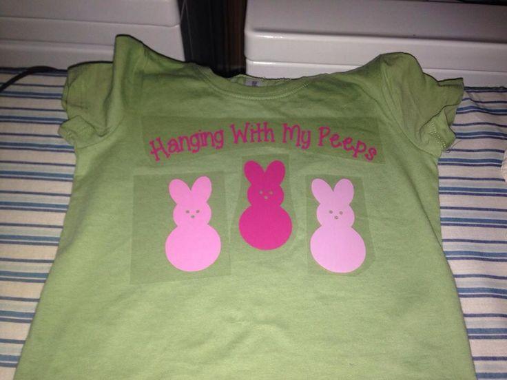 Peeps Easter shirt | Silhouette Cameo Ideas | Pinterest