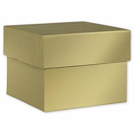 Gold Hi-Wall Gift Box Lids, 4 x 4