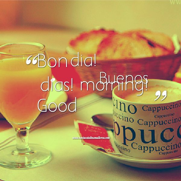 Good Morning Spanish Text : Stock photography buenos dias good morning spanish text