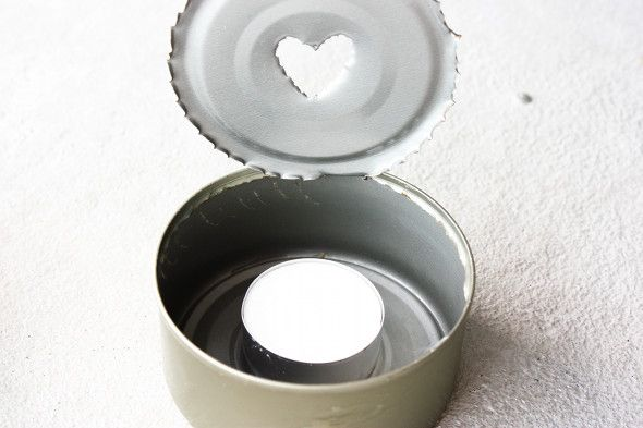 Tin can tea light holder tin can lights and projects pinterest