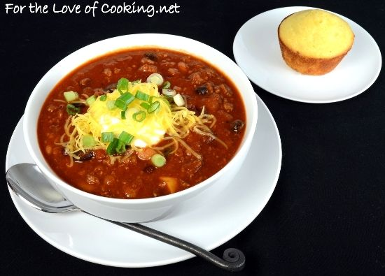 For the Love of Cooking » Three Bean Turkey Chili