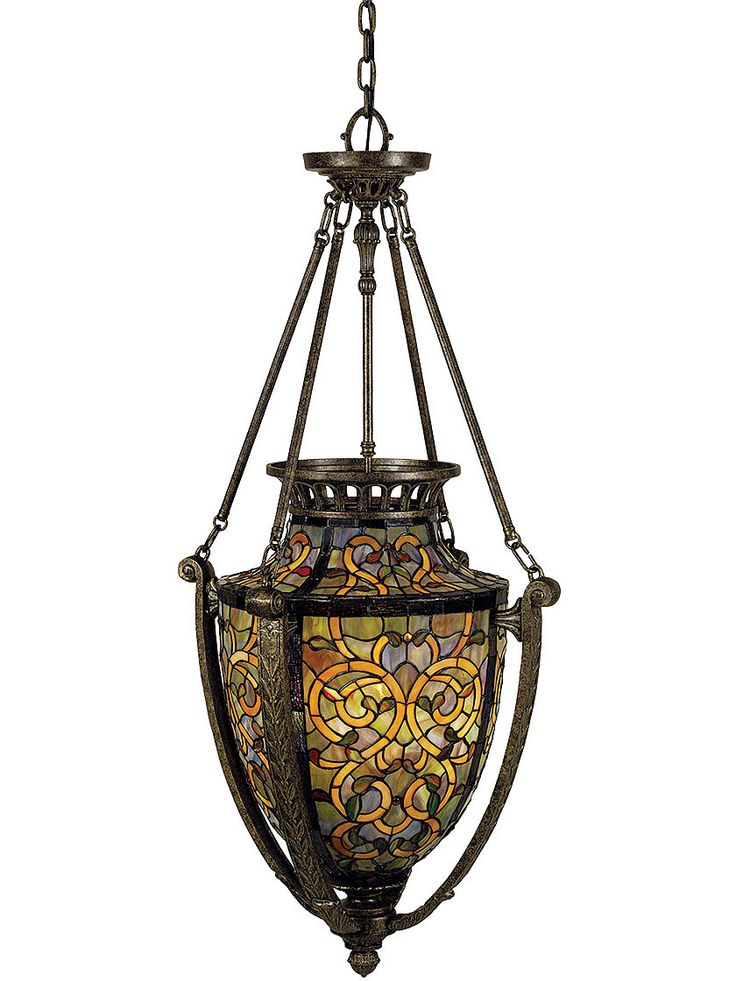 Tiffany Hanging Light Fixtures Pendant Light Fixtures Tiffany Style Urn Pendant With 4 Lights