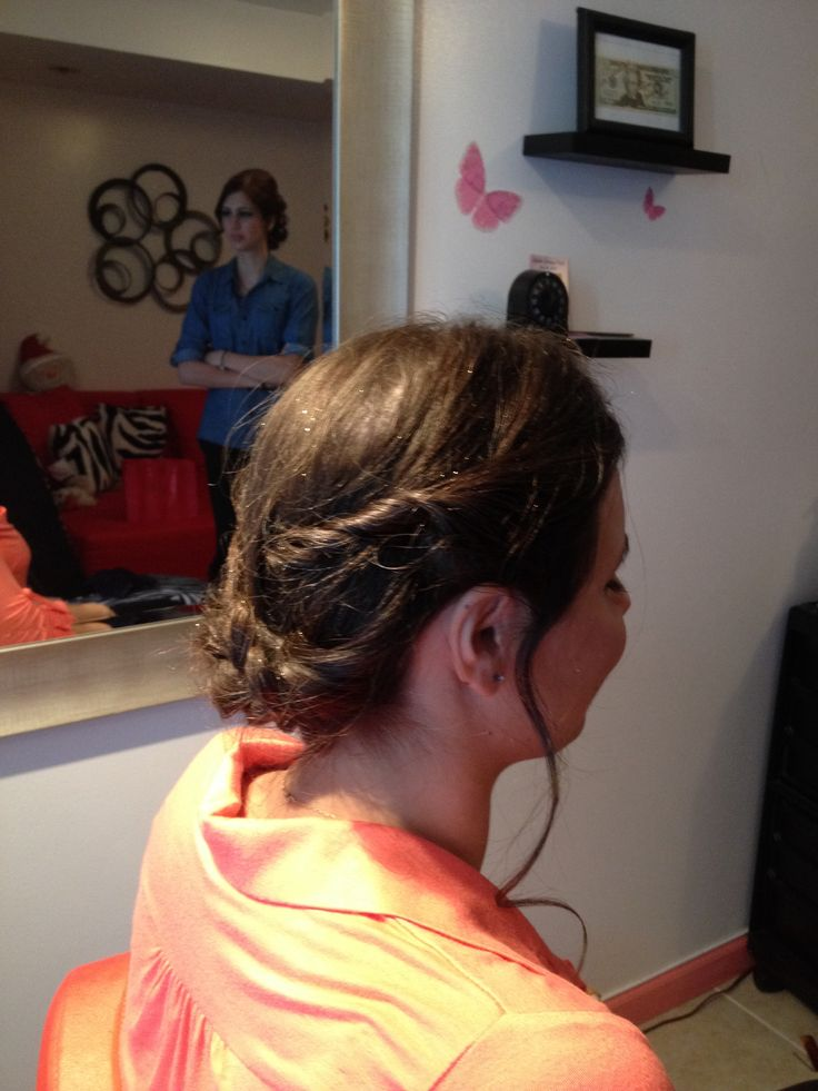 Braid flower | Cinderella's updo hairstyles | Pinterest