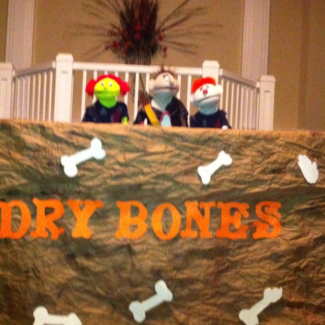 Ezekiel and the Dry Bones puppet skit.