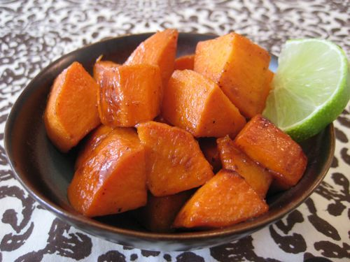 Glazed Sweet Potatoes with Maple Syrup & Lime on Weelicious