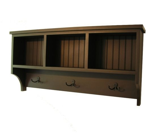 madison cubby shelf with robe hooks wall storage. Black Bedroom Furniture Sets. Home Design Ideas