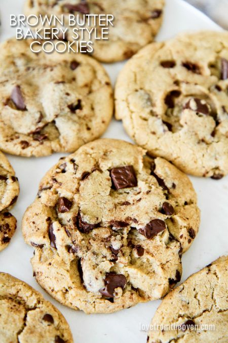 Bakery Style Brown Butter Chocolate Chip Cookies. These might be the ...