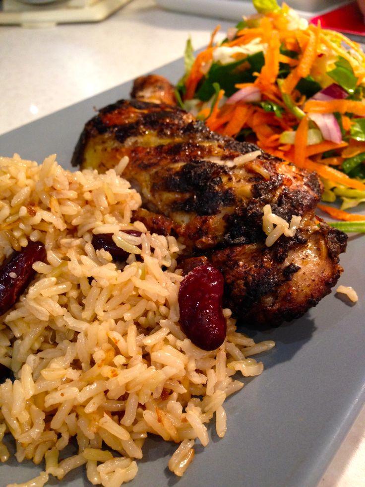 Jerk Chicken and Brown Rice | Chicken | Pinterest
