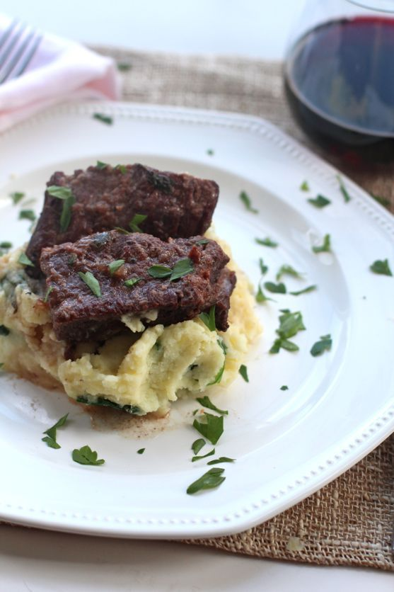 red wine-braised short ribs | savory foods | Pinterest