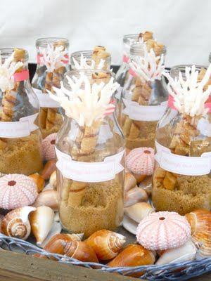 Message in a bottle treats (with Pirouette cookies inside)