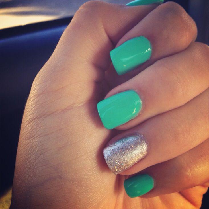Turquoise blue acrylic nails!   Nails   Pinterest